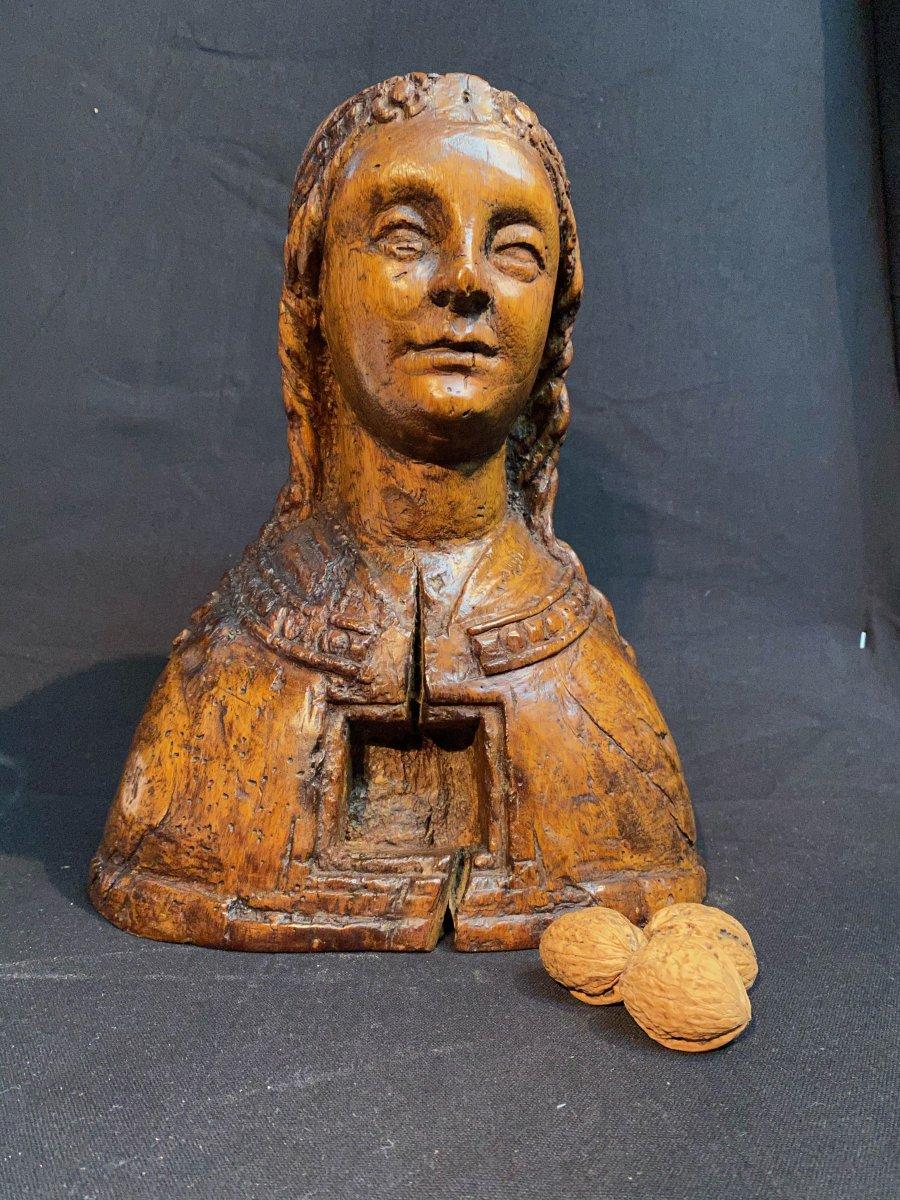 Statue XVII°,sainte Marguerite