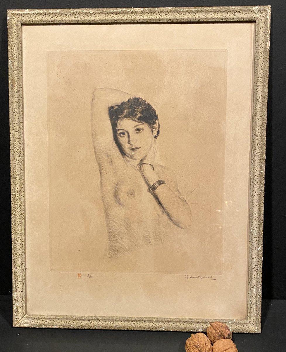 Lithographie, Buste De Femme Nue