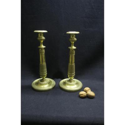 Pair Of Empire Candlesticks