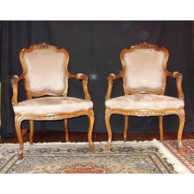 Pair Of Rocaille Armchairs