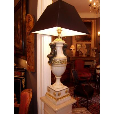 Marble And Bronze Lamp