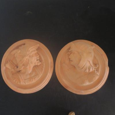 Pair Of Terracotta Medallions