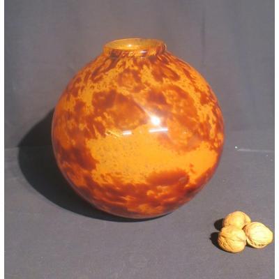Ball Vase By Delatte