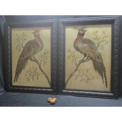 Pair Of Natural Feather Tables