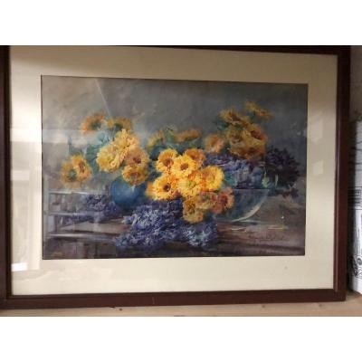 Bouquet De Fleurs Par Marguerite Chalibert