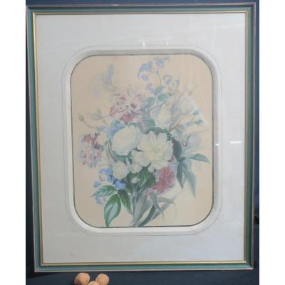 Bouquet De Fleurs En Aquarelle