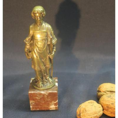 Homme d'église En Bronze XVIII°