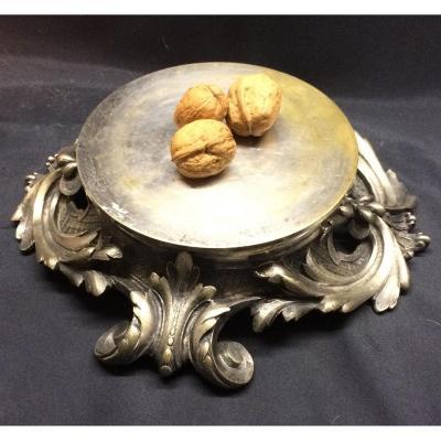 Socle En Bronze Argenté