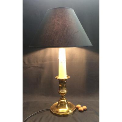 Large Candlestick Mounted In Lamp