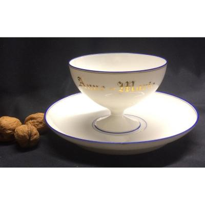Limoges Porcelain Cup And Saucer