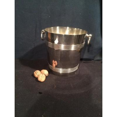 Silver Metal Champagne Bucket