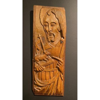 Saint Jean Baptiste En Bas Relief