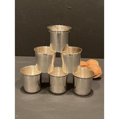6 Small Silver Cups