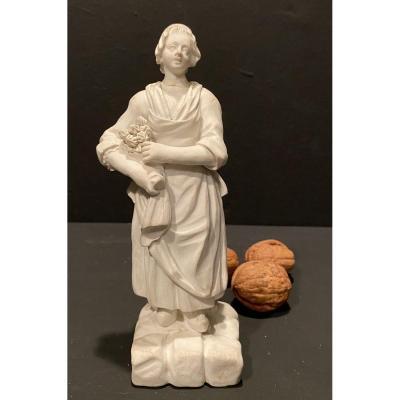 Biscuit, Femme Au Panier De Fraises