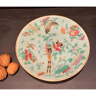 Plate With Green Background, China XIX °