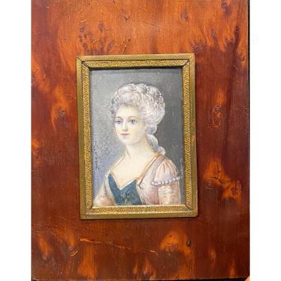 Miniature, Portrait De Femme