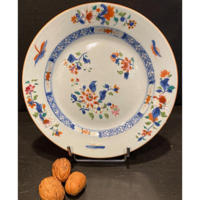 Plate Decorated With Flowers And Insects