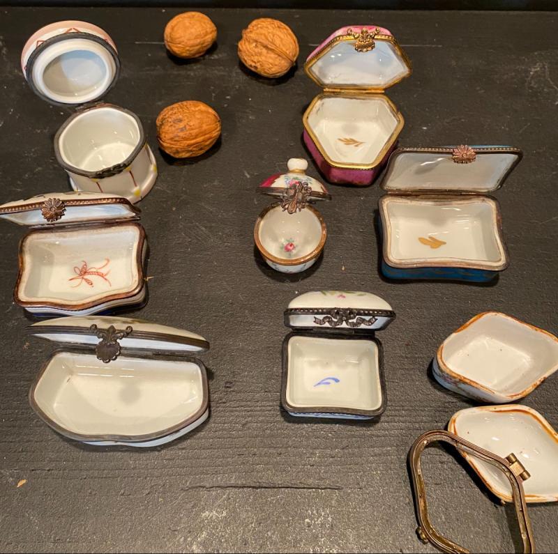 Collection De Petites Boites En Porcelaine-photo-4