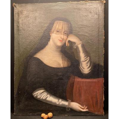 Tableau XVIII°, Femme Au Voile Noir