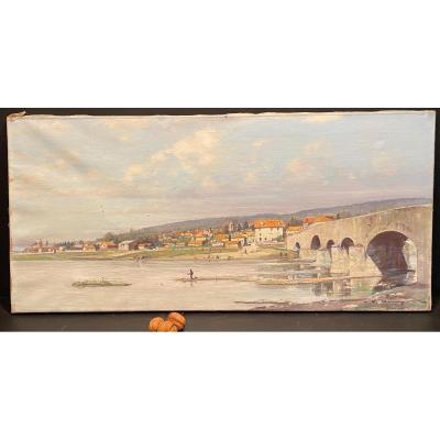 Peinture, Tableau Vue De Malzéville Signé P Remy