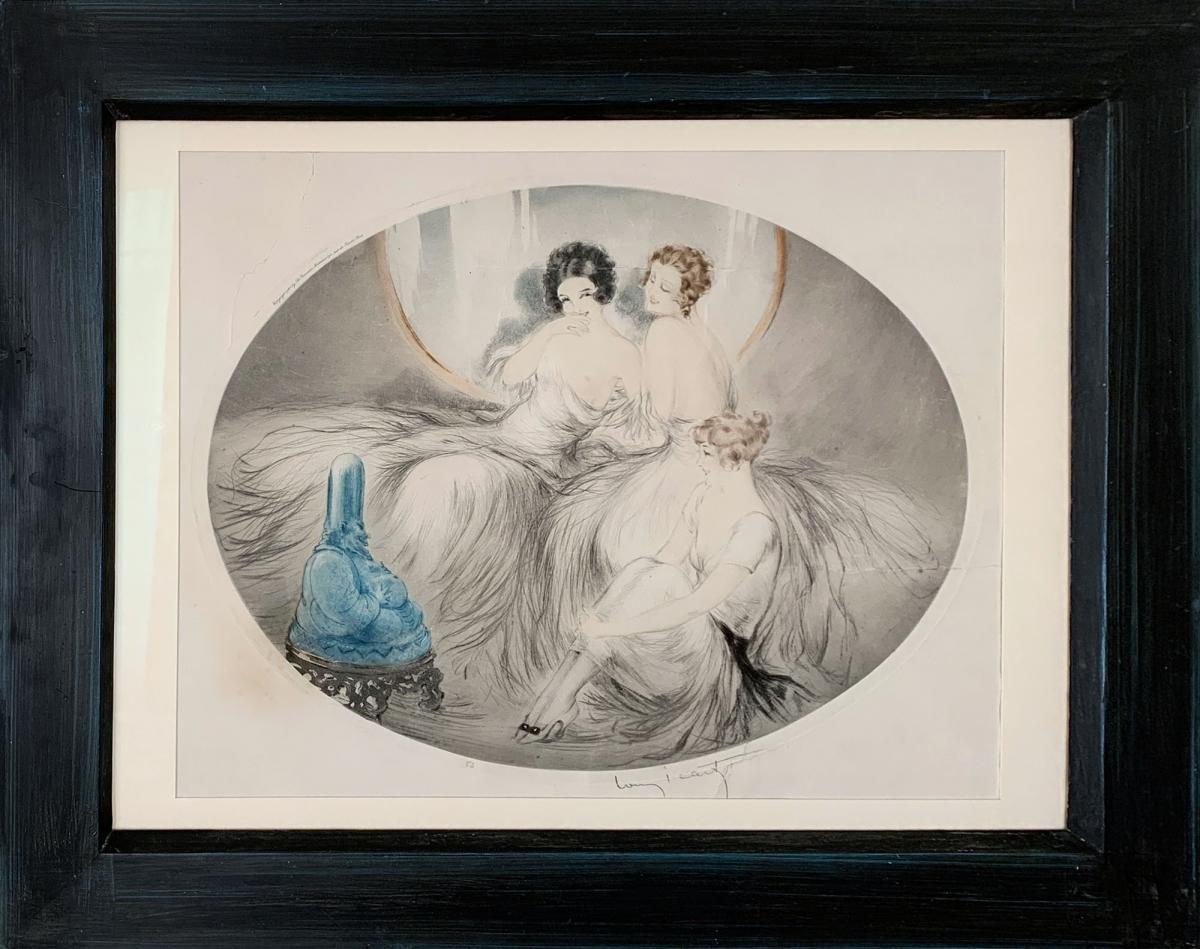 Gravure Pointe sèche - Les Trois Amies - Louis Icart (1888 - 1950)