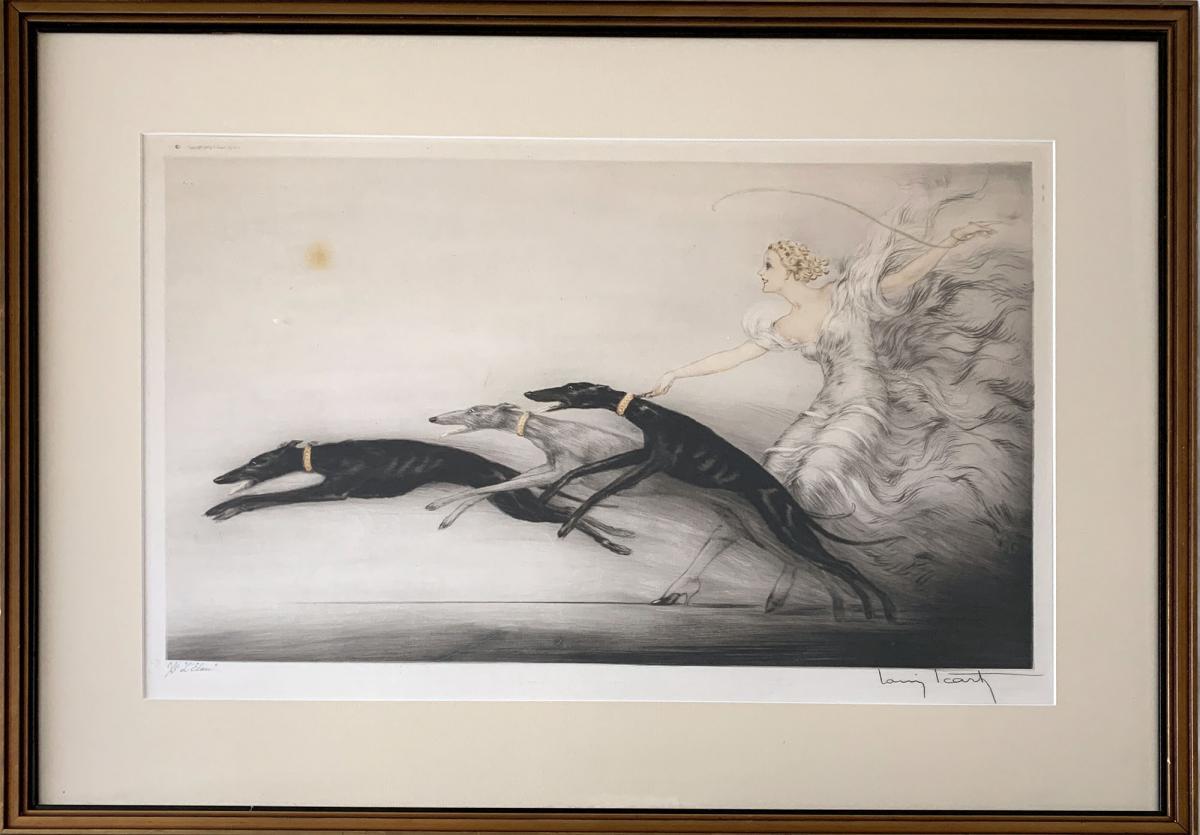 Gravure Pointe sèche - Vitesse II Ou Speed II - Louis Icart (1888 - 1950)