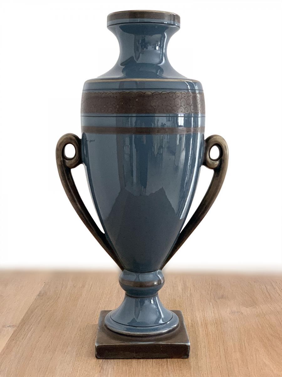 Vase Art Deco - Pinon Heuzé à Tours (env.1930) Forme d'Amphore
