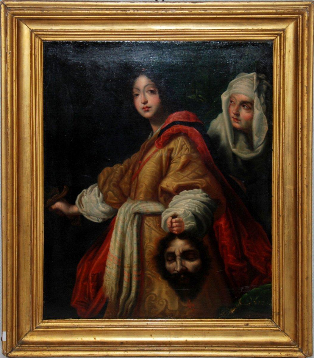Judith Et Holopherne - Huile Sur Toile - XVIIIe Siècle