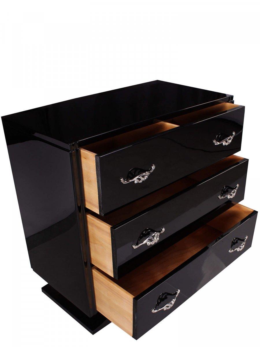 Art Deco Dresser - Black Piano-photo-2