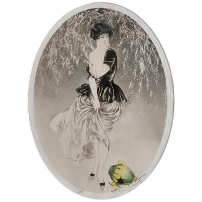Gravure Pointe sèche - La Cruche Cassee - Louis Icart (1888 - 1950)