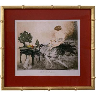 Eau forte aquatinte - Jardin Japonais - Louis Icart (1888 - 1950)