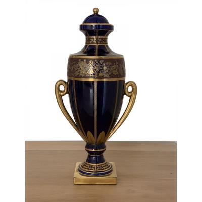 Vase Art Deco - Pinon-heuzÉ à Tours (env. 1930) - Avec Son Couvercle