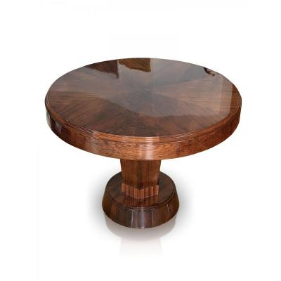 Table Basse | Table Portefeuille Art Deco En Placage De Ronce De Noyer