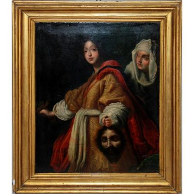 Judith And Holofernes - Oil On Canvas - Eighteenth Century