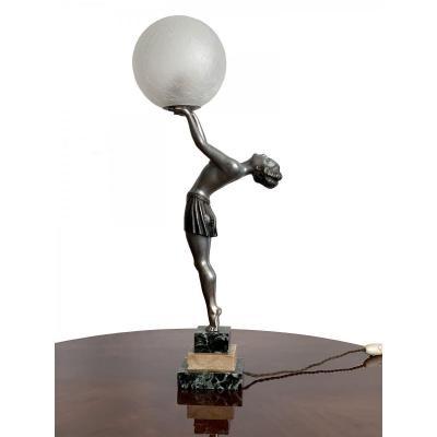 Lampe Art Deco - La Danseuse - Signée Ballesti