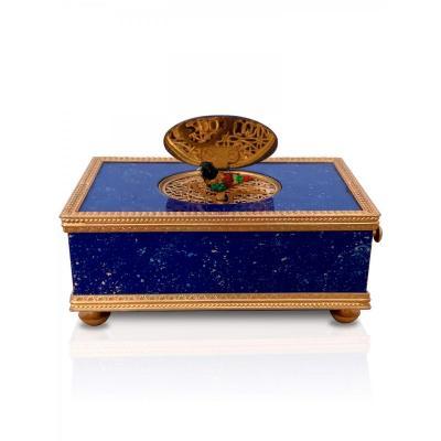 Oiseau Mécanique - Boite à Musique En Lapis Lazuli - Reuge