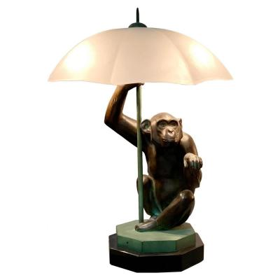 Pluie - Max Le Verrier - Monkey Umbrella Lamp