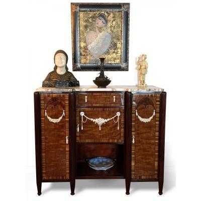 Entre-deux / Art Nouveau Sideboard | Macassar And Rosewood