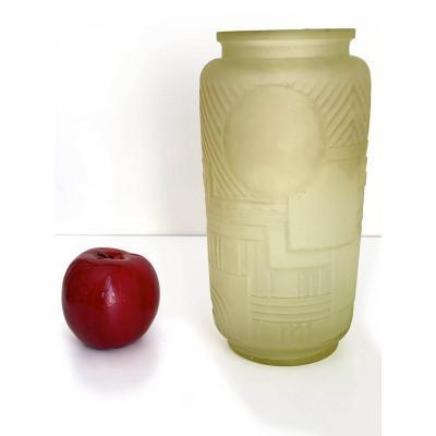 Rare Vase En Ouraline - Legras Modèle Versailles - Circa 1920