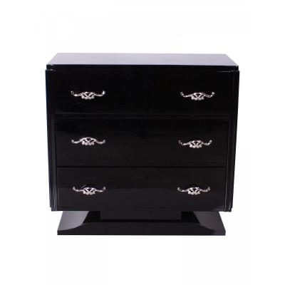 Art Deco Dresser - Black Piano