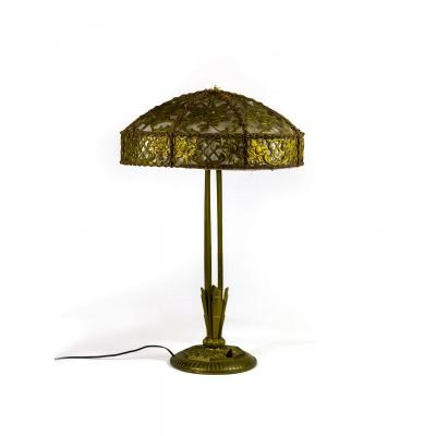 Art Deco Table Lamp Bronze Color - Around 1930