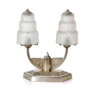 Lampe De Table Art Deco - Double Fontaines