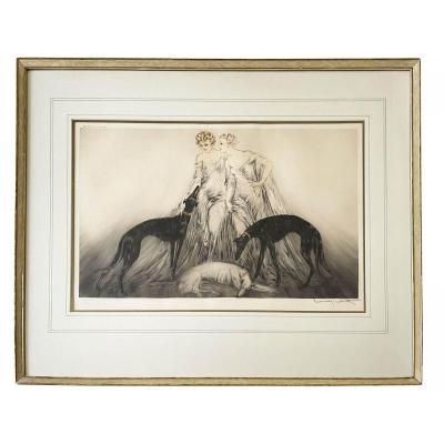 Louis Icart - Coursing III - Gravure Aquatinte  1930