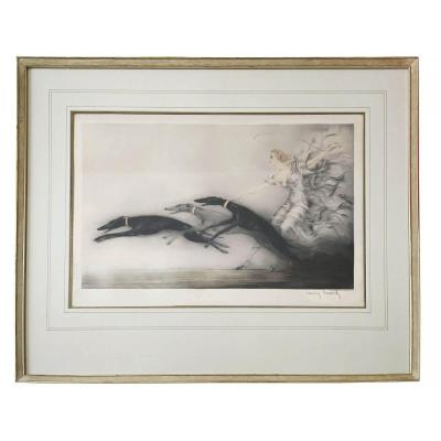 Speed II - Aquatinte, Tableau De Louis Icart (1888 - 1950)