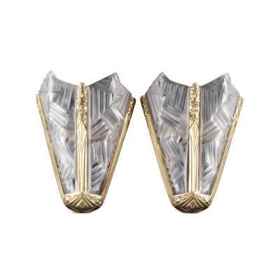 Paire d'Appliques Art Deco - Francis Hubens | Degue France