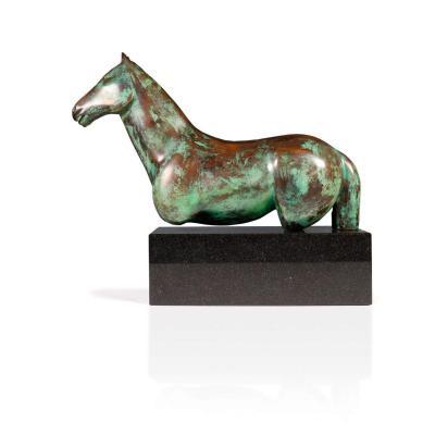 Cheval En Bronze - Gloria Pecego