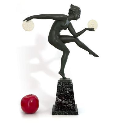 Sculpture Danseuse Payenne Grand Modèle - Signée Derenne (par Max Le Verrier)