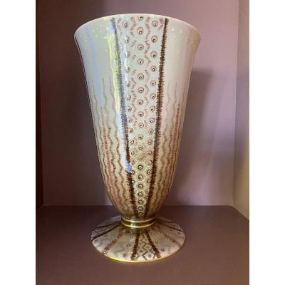 Vase  de Sèvres Au De Jean Luce .