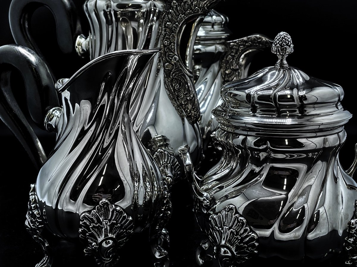 Tea And Coffee Service Sterling Silver 800/1000-photo-4