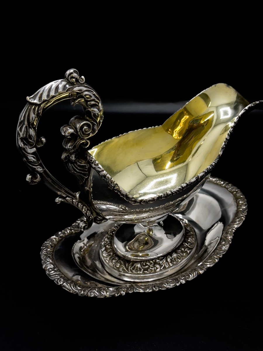 Sauceboat In Belgian Sterling Silver By François Drion-photo-3